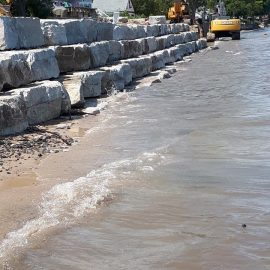Shoreline construction Lake Huron